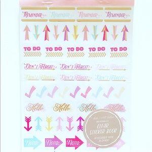 Target Clear Planner Sticker Book Pastel